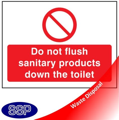 do not flush signs for bathroom do not flush sanitary products in toilet sign ssp print