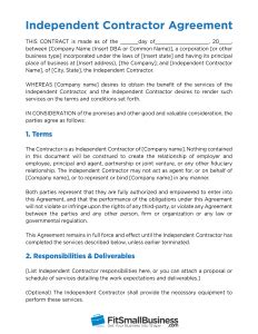 Free Independent Contractor Agreement Template What To Avoid Independent Consultant Contract Template