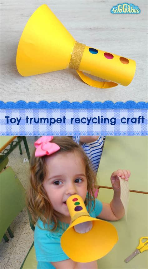 trumpet craft for cardboard trumpet recycling craft tea time