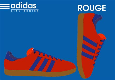 adidas  size  city series rouge sneakers  love