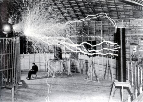 Tesla In His Lab Web Caign To Build A Tesla Museum Succeeds In