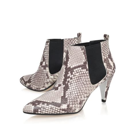 michael kors owen bootsie mid heel ankle shoe boots in