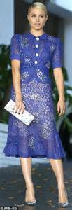 Grey Houndstooth Lace Trousers S M L 19887 reese witherspoon wears floral dress for fashion event as