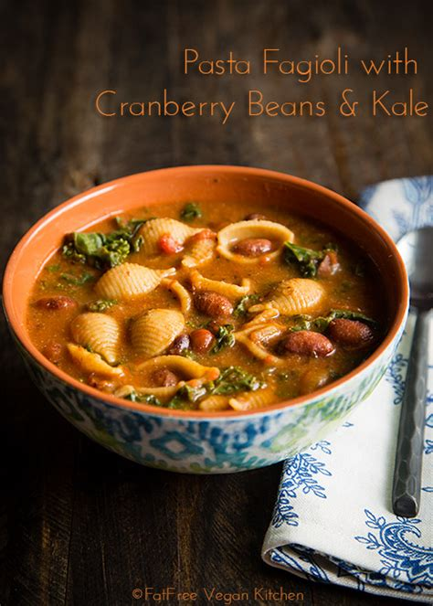 the â œi my instant potâ vegan recipe pasta fagioli with cranberry beans and kale recipe from