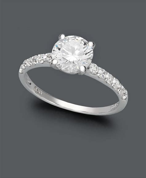 Beautiful Fake Diamond Engagement Rings   Engagement Ring USA