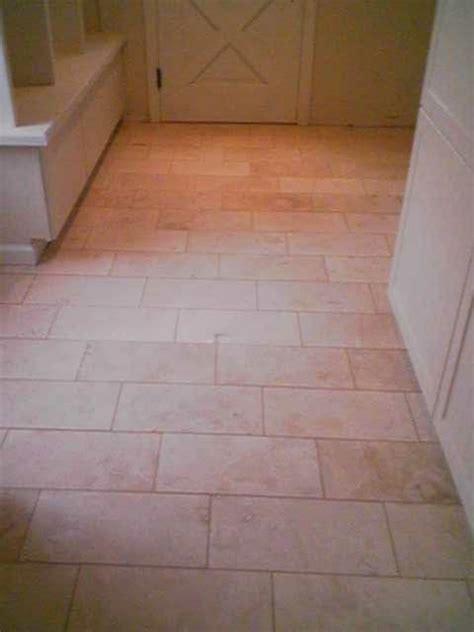 Wilson Flooring by 8x16 Travertine 1 3 Offset Resistant Heated Floor Yelp