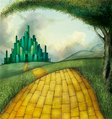 coloring pages of the yellow brick road yellow brick rode pictures to pin on pinterest pinsdaddy
