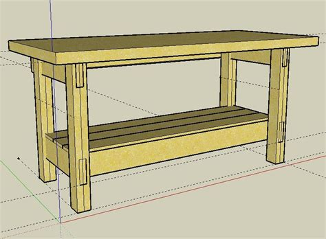 woodworking sketchup plans image gallery workbench drawings