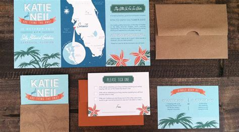 florida wedding invitations tropical destination wedding invitation suite