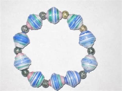 How To Make Paper Bead Bracelets - easy paper bead bracelet