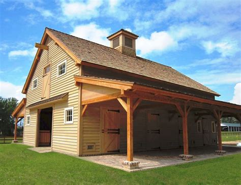 Barn Styles by Carolina Horse Barn Handcrafted Timber Stable
