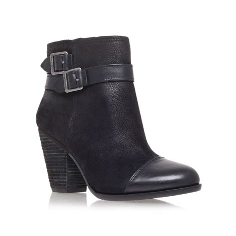 vince camuto hasia high heel ankle boots in black lyst