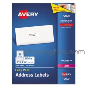 avery label 5160