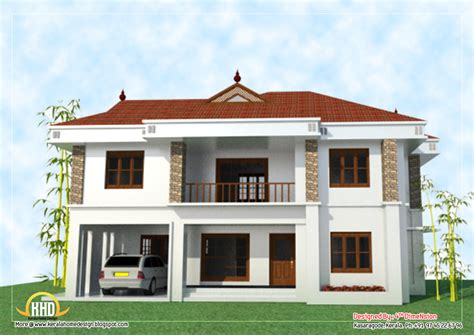 2story house plans 2 story house elevation 2743 sq ft kerala home design and floor plans