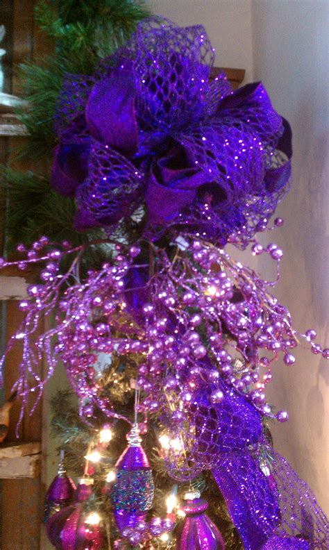 purple christmas tree topper christmas in purple