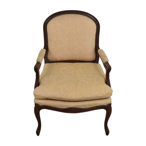 Gold Accent Chair 75 Gold Floral Jacquard Upholstered Studded Accent