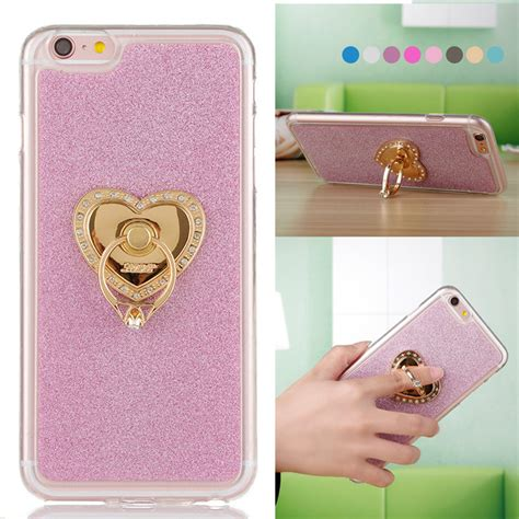 For Iphone 5 5s Soft Luxury Bling Glitter Shine luxury bling finger ring for iphone 5 metal gold chrome ring stand holder soft tpu glitter