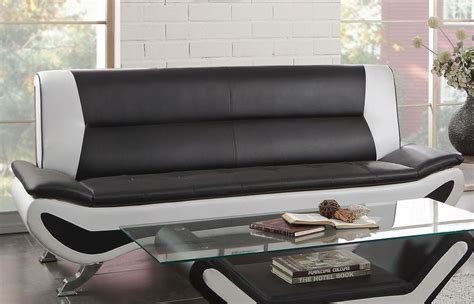 sofa black and white veloce black and white sofa from homelegance coleman
