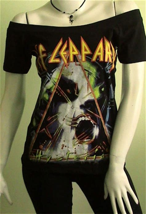 def leppard women def leppard hysteria metal diy women top shirt size by