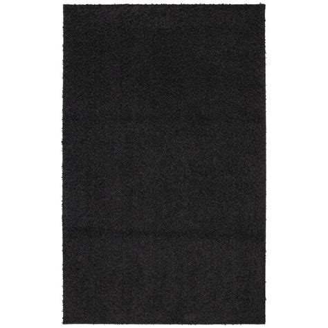 black accent rug mohawk home modern shag black tufted 8 ft x 10 ft area