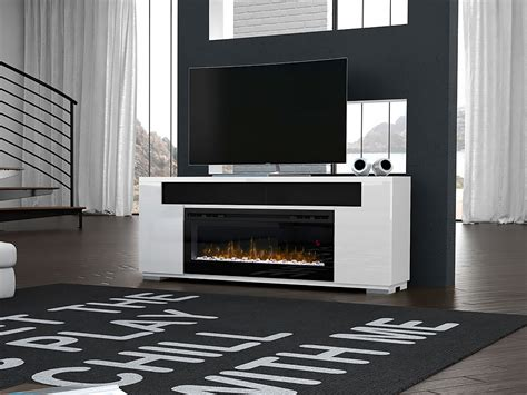 electric fireplace entertainment center in white