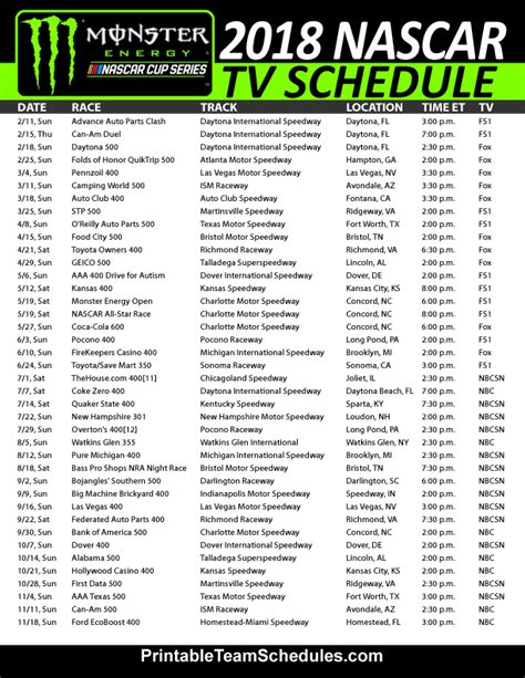 printable nascar xfinity schedule 2015 search results for printable nascar sprint cup schedule