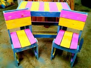 Pallet Kids Bedroom Furniture Diy Colorful Pallet Furniture For Kids 99 Pallets