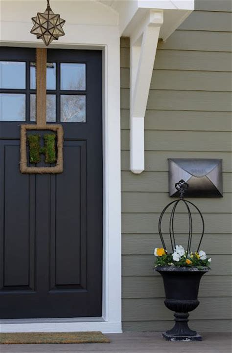 accent door colors i like this shade of green with black accent and white