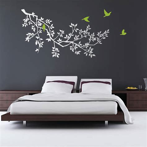 wall sticker wall stickers branches white by zazous