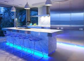 Blue Led Kitchen Lights Top 3 Led Lighting Ideas For The Home Going Green Is In Style