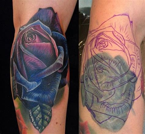 rose tattoo coverups laser removal before a cover up