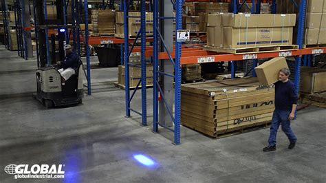 blue warning lights on forklifts global industrial forklift blue led safety warning light