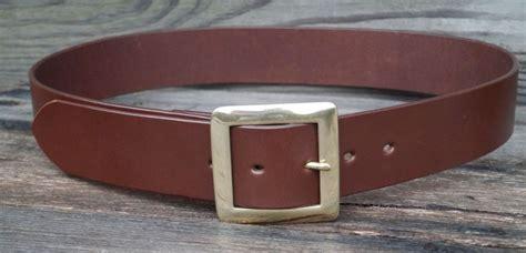 1 3 4 inch wide mens leather belt solid brass centrebar
