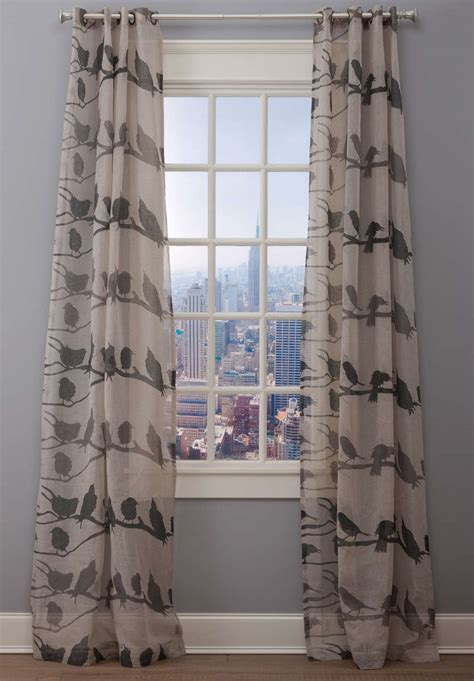 drapery loft emdee international linen bird drapery panel loft collection