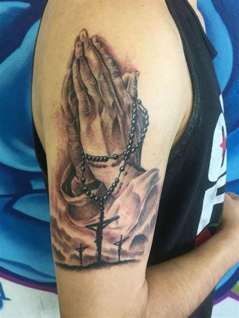 rosary tattoo on hand 25 best praying with rosary ideas on