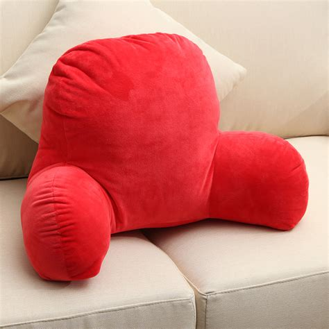 pillows for back support in bed red coffee back spinal support pillow lounger bed rest arm