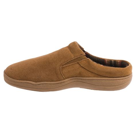 clarks slippers mens clarks fleece lined suede slippers for save 78