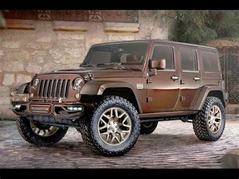 brown jeep 2015 jeep wrangler redesign cooper brown youtube