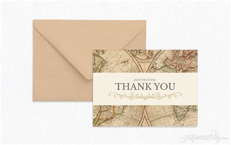 travel thank you note paper truly