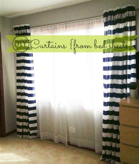 sheets as curtains how to make back tab curtains diy from bed sheets this