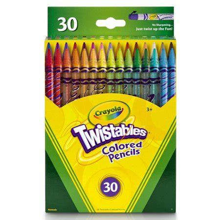 crayola 30 count twistable colored pencils crayola twistables colored pencils 30 count walmart
