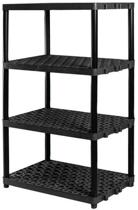 "Plano® 36"" W x 62"" H x 24"" D 4-Shelf Plastic Shelving Unit"