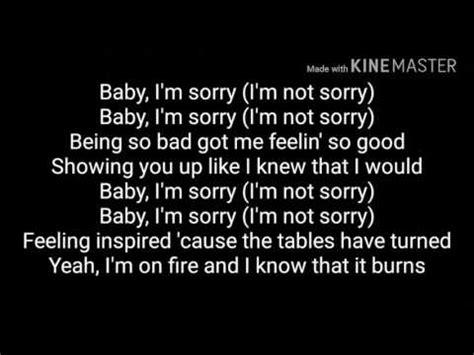 demi lovato lyrics sorry not sorry lyrics demi lovato sorry not sorry youtube