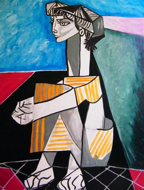 picasso paintings of jacqueline artfans reproduction of picasso jacqueline with crossed