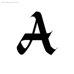 alpine blackletter a z calligraphy lettering styles to