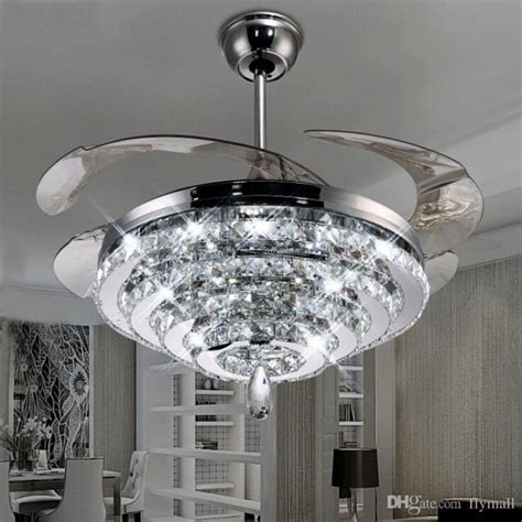 Ceiling Fans With Chandelier Crystals Popular Kitchen Ceiling Fan With Chandelier