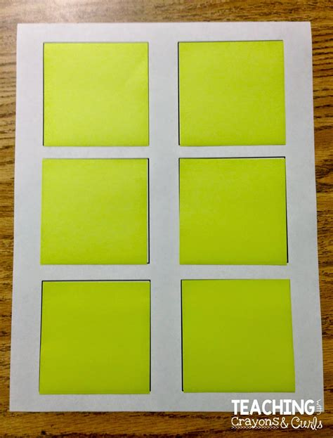 sticky note template printing on sticky notes teaching with crayons and curls