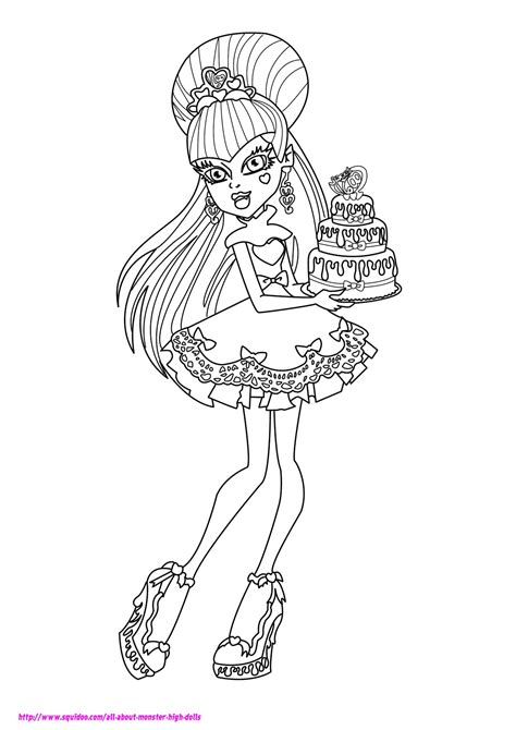 monster high coloring pages to play dibujos para pintar de draculaura