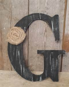 Wooden Letters Home Decor by Black Rustic Chic Wooden Letter G Home Decor Letters Burlap