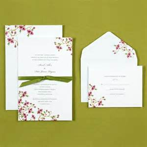 cherry blossom wedding invitations kit bridal shower invitations bridal shower invitation kit